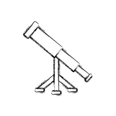 telescope icon over white background vector illustration