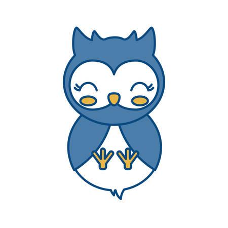 owl animal icon over white background vector illustration Illustration