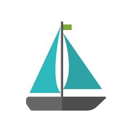 dinghy: sailboat icon over white background colorful design vector illustration Illustration