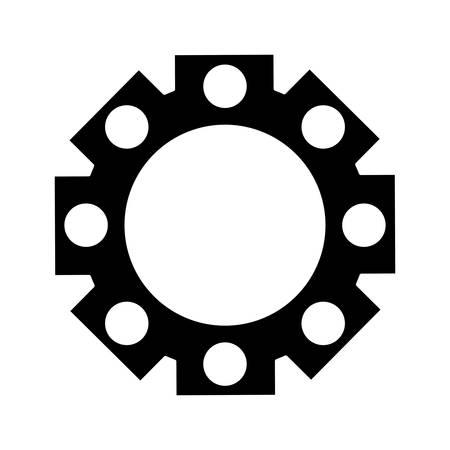 gearwheels: gear wheel icon over white background vector illustration Illustration