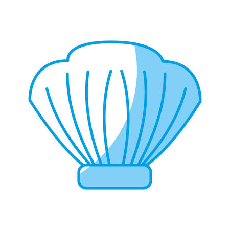 seashell icon over white background vector illustration Ilustração