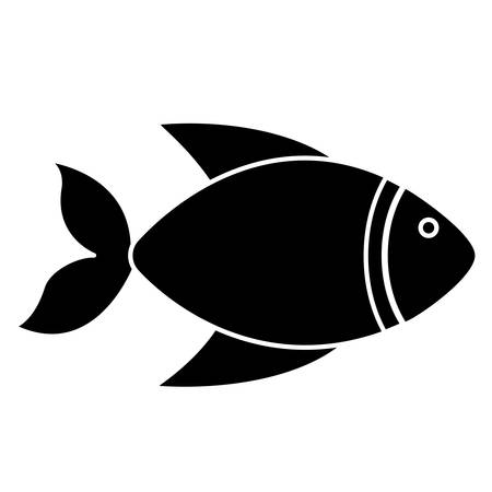 underwater fishes: fish icon over white background vector illustration Illustration