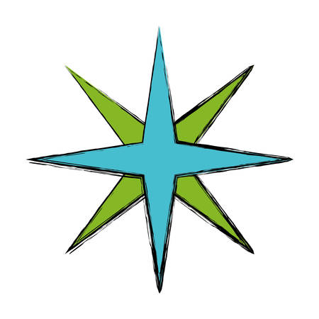 location star icon over white background vector illustration Illustration