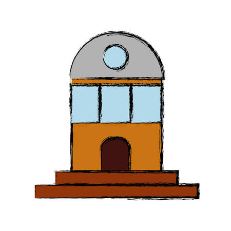 to warn: lighthouse icon over white background vector illustration