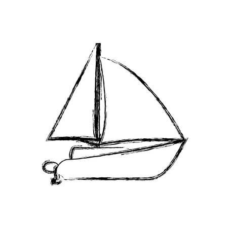 bay: Sail boat isolated icon vector illustration graphic design