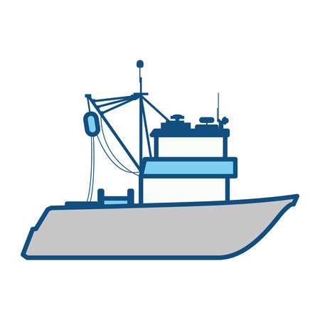 Fishing boat isolated icon vector illustration graphic design Illustration