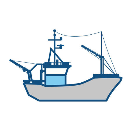 motorboat: Fishing boat isolated icon vector illustration graphic design Illustration