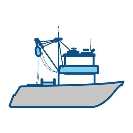 marine industry: Fishing boat isolated icon vector illustration graphic design Illustration