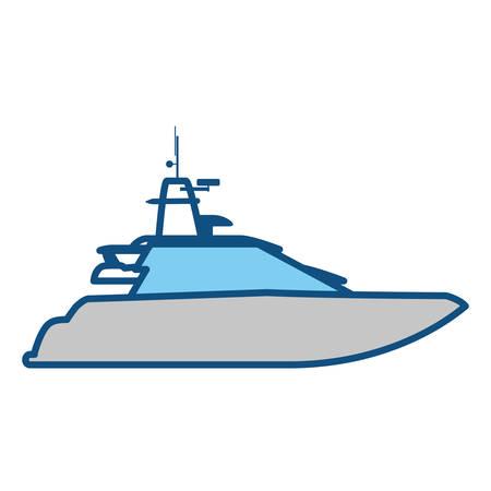 bay: Yacht luxury boat icon vector illustration graphic design