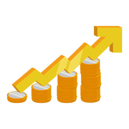 Increasing stats symbol icon vector illustration graphic design Illustration