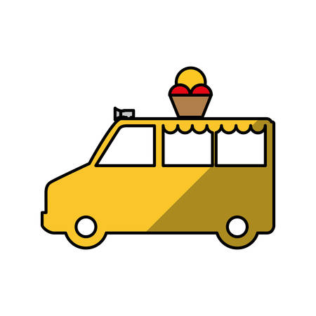 Ice cream truck icon vector illustration graphic design