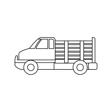 shipments: Cargo suv vehicle icon vector illustration graphic design