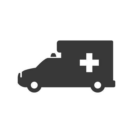 urgency: Ambulance emergency vehicle icon vector illustration graphic design