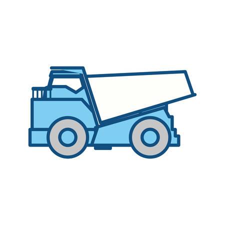 big dump truck icon vector illustration graphic design Illustration