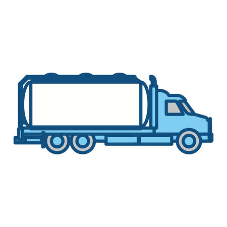 shipments: Cargo truck vehicle icon vector illustration graphic design Illustration