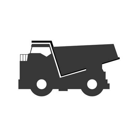 earth moving: big dump truck icon vector illustration graphic design Illustration