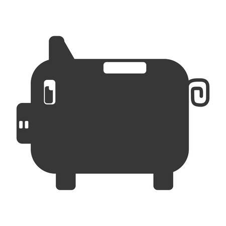 benefit: Piggy money savings icon vector illustration graphic design