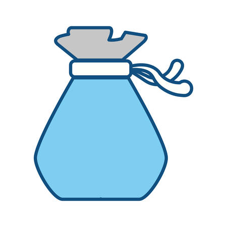 bankrupt: Money bag isolated icon vector illustration graphic design