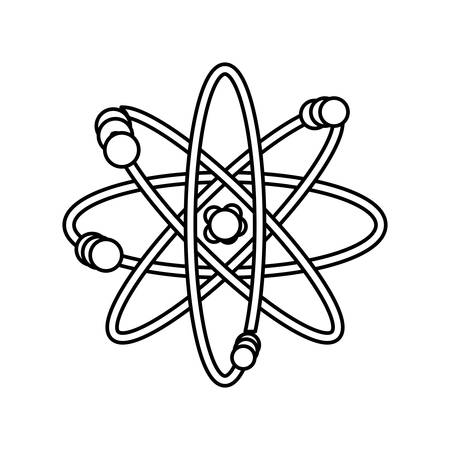 orbiting: atom science element icon vector  illustration graphic