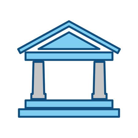 bankrupt: Bank building symbol icon vector illustration graphic design