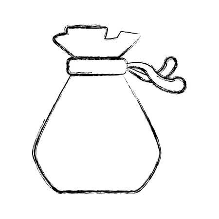 money sack: Money bag isolated icon vector illustration graphic design