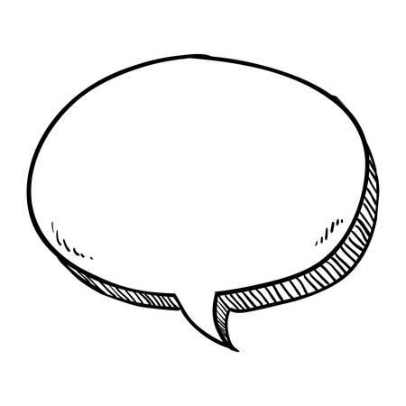 Chat bubble comic icon vector illustration graphic design Vettoriali