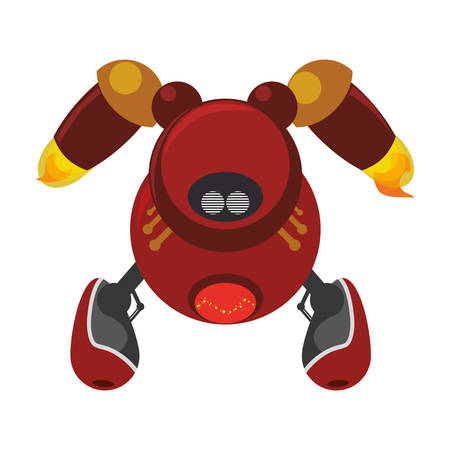 funny robot: robot toy funny icon vector  illustration graphic  design