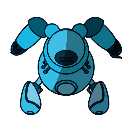 robot toy funny icon vector  illustration graphic  design