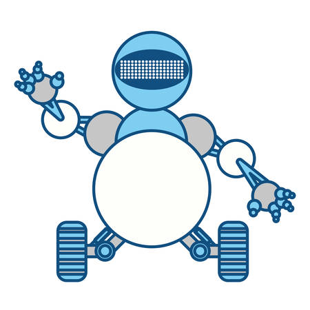 droid: robot toy funny icon vector illustration graphic design Illustration