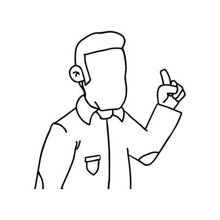 symbolics: Guy cartoon draw icon vector illustration graphic design