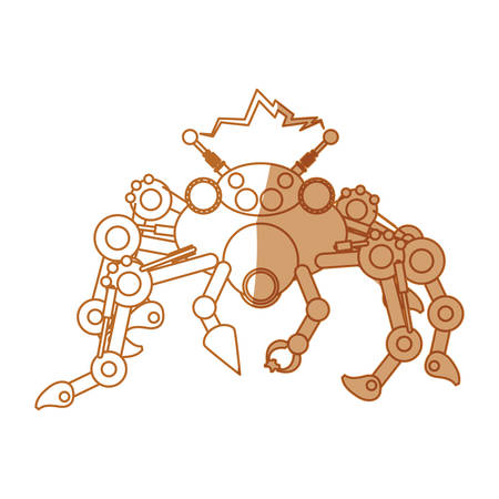 robot toy spider icon vector illustration graphic design