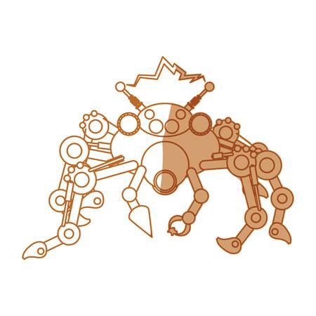 robot toy spider icon vector illustration graphic design