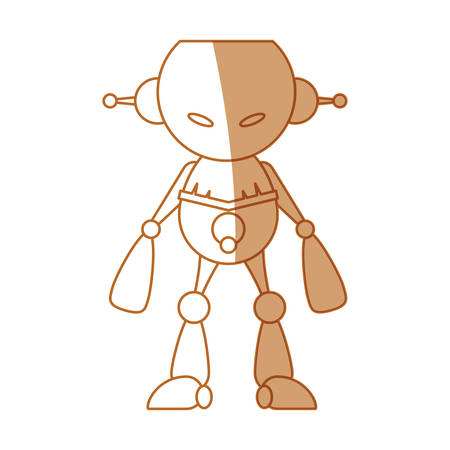 robot toy cartoon icon vector illustration graphic design