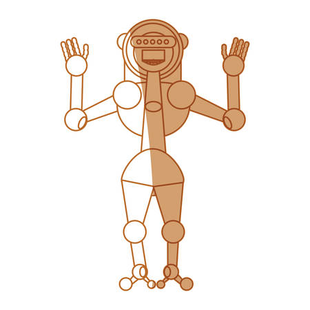 robot toy Greetings icon vector illustration graphic design