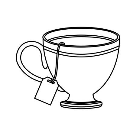 Cup hot drink vector illustration arroma icon