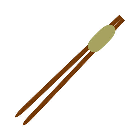 chop: Chinese sticks asian icon vector illustration graphic design