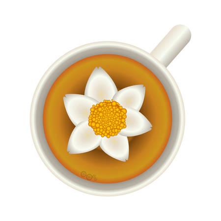 Flower soup food icon vector illustration graphic design Illustration