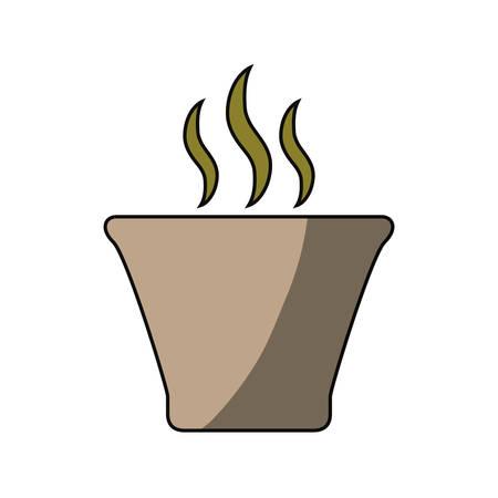Rice bowl Katsudon icon vector illustration graphic design