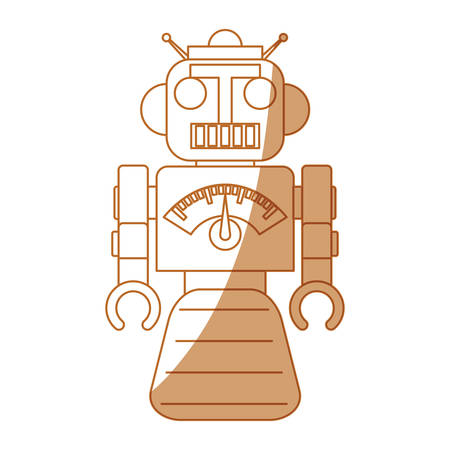 droid: robot toy cartoon icon vector illustration graphic design