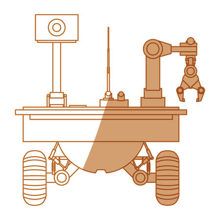 Table top robotic arms icon vector ilustration graphic design Illustration