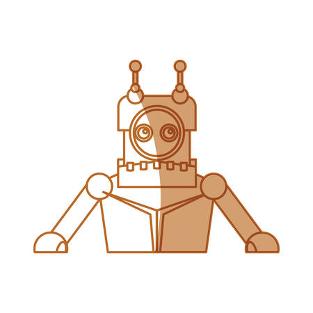 robot toy cartoon icon vector illustration graphic design