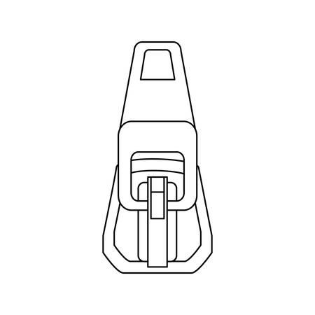Zipper symbol icon vector illustration graphic design