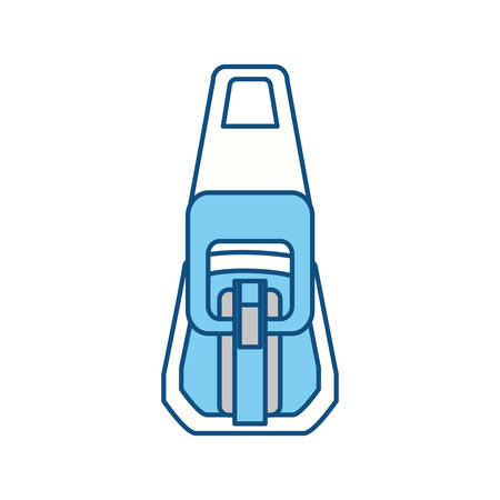 fastener: Zipper symbol icon vector illustration graphic design