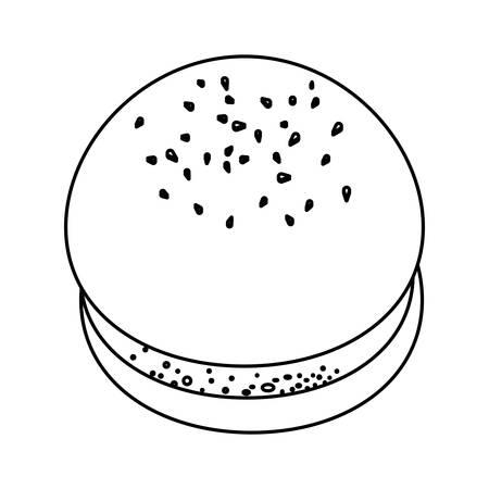 prepare: Hamburger bread product icon vector illustration graphic design