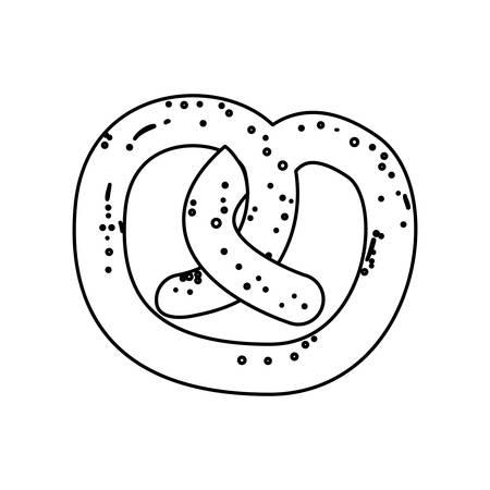 Pretzel food snack icon vector illustration graphic design Çizim