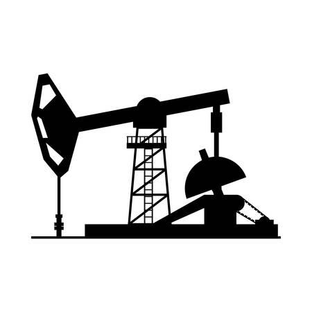Oil pump silhouette icon vector illustration graphic design Stock Vector - 80685800