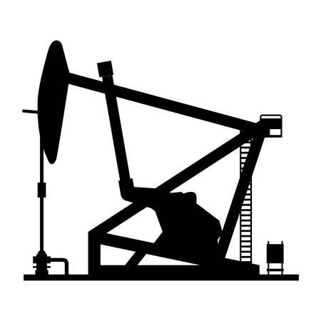 Oil pump silhouette icon vector illustration graphic design Stock Vector - 80685806