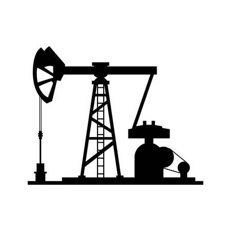 Oil pump silhouette icon vector illustration graphic design