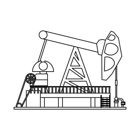 natural gas production: Oil pump silhouette icon vector illustration graphic design