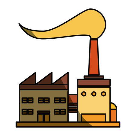 Refinery plant silhouette icon vector illustration graphic design Illustration